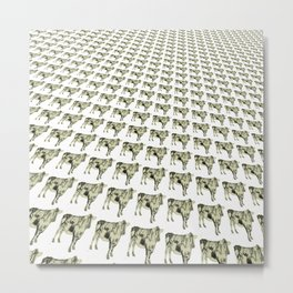 Cows in a row pattern Metal Print