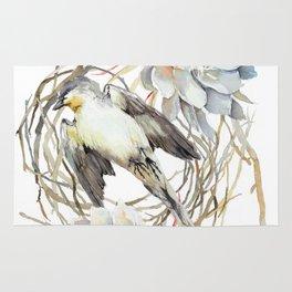 Fallen Bird, Little Swift bird, Queen of The Night Blossom Rug