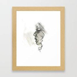 Missed Kiss Framed Art Print