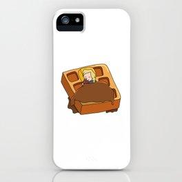 Leslie Knope + Giant Waffle iPhone Case