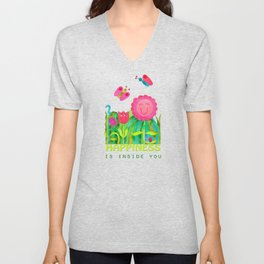 Happiness is inside you Unisex V-Neck