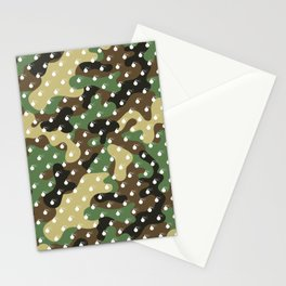 BOMB PATTERN - CAMO & WHITE - LARGE Stationery Cards