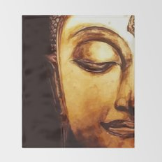 Buddha Meditation Throw Blanket
