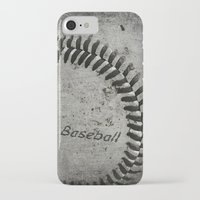 baseball iPhone & iPod Cases featuring Baseball by Christy Leigh