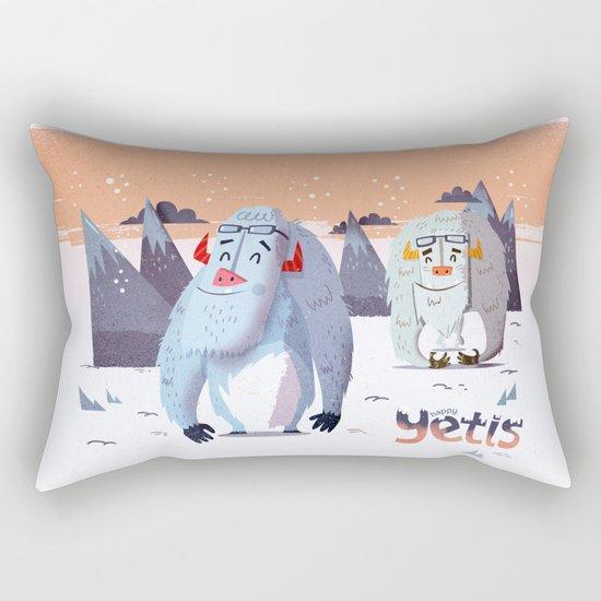 :::Happy Yetis::: Rectangular Pillow