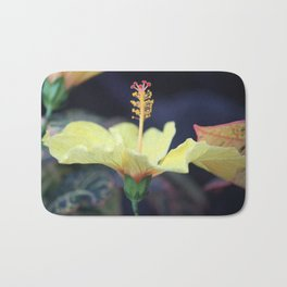 Sun searching Chinese Hibiscus Flower Bath Mat