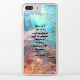 You And I Inspirational Togetherness Quote With Beautiful Underwater Painting Clear iPhone Case