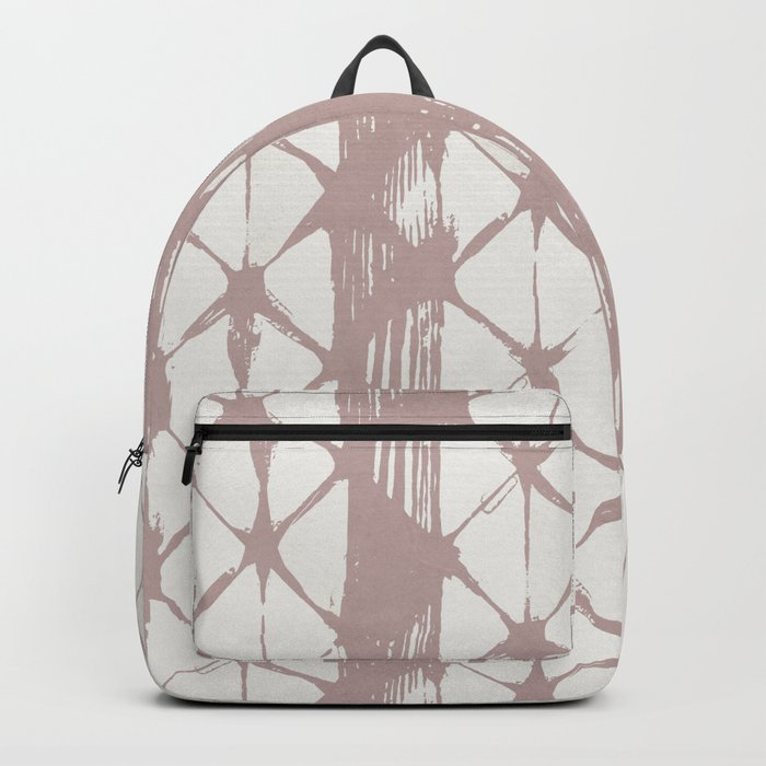 Simply Braided Chevron Clay Pink on Lunar Gray Backpack