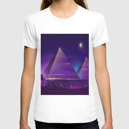 egyptian pyramids night landscape T-shirt