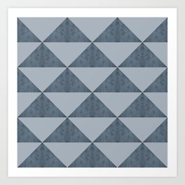 Cement Bluestone Triangles Art Print