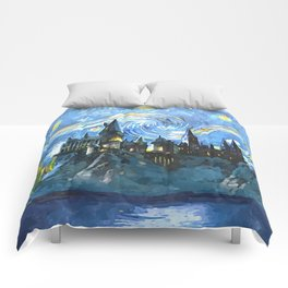 Starry Night in Hogwarts Castle - HP Comforters