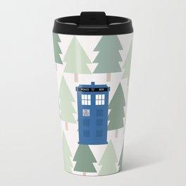 TARDIS lands in the Pacific Northwest Pine Tree Forest - Oregon, Washington, Portland, PDX, Seattle Travel Mug