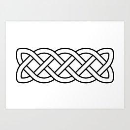 Celtic Knot Band Art Print