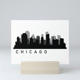Chicago skyline Mini Art Print