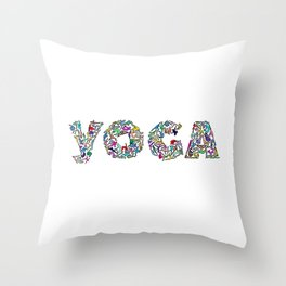 YOGA Figure Poses Throw Pillow