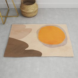 Abstract Art Sun Rug