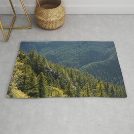 Mt. Storm King Trees Olympic National Park Washington Rug