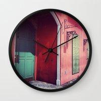 door Wall Clocks featuring Door by wendygray