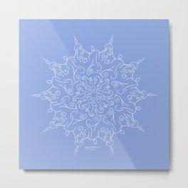 Divine Blessing - Soft Blue Metal Print