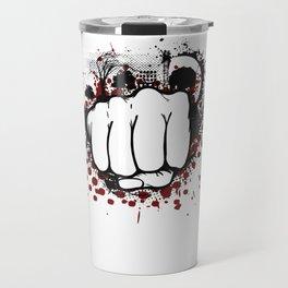 Grunge Fist Punch Travel Mug