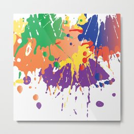 Colourful Paint splash Metal Print