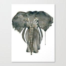 Mother Elephant Grey Canvas Print