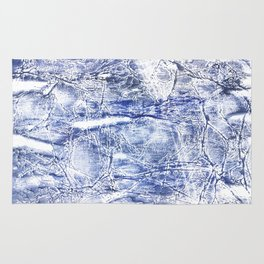 Gray blue marble Rug