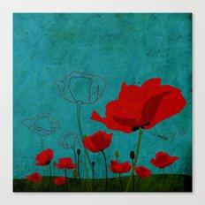 Flowers: Poppy Canvas Print