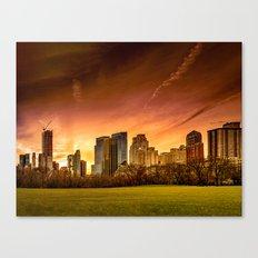 Sunset over Midtown Manhattan Canvas Print