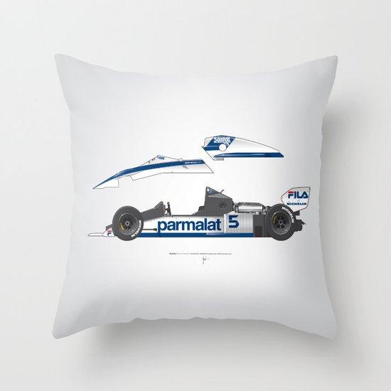 Outline Series N.º6, Nelson Piquet, Brabham BT-52 BMW, 1983 Throw Pillow