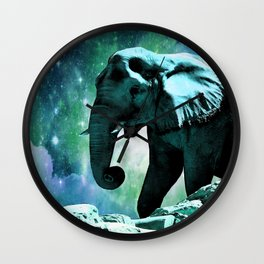 Galaxy Elephant of the Planet Pachyderm Wall Clock
