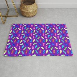 Flip Flops Pattern Purple Rug