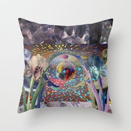 Crystal Purple Persuasion Throw Pillow