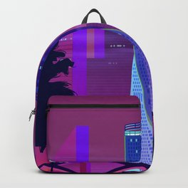 Synthwave Neon City #25: Vice city Backpack