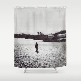 Low Tide, Bay of Fundy Shower Curtain