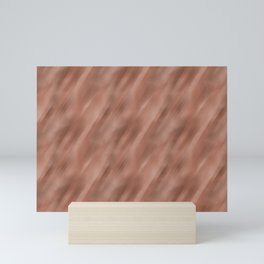 Abstract Motion Blur Blended Colors Inspired By Sherwin Williams Cavern Clay SW 7701 Mini Art Print