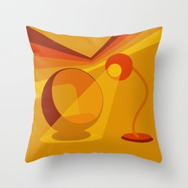 70s Sitting Room Throw Pillow