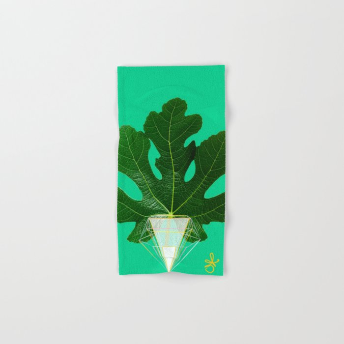 Fig Leaf Diamond Christmas Tree Hand & Bath Towel