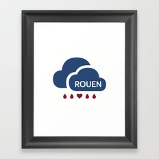 Rainy Rouen (2) Framed Art Print