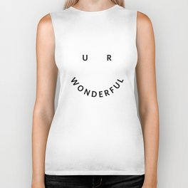You are wonderful Biker Tank