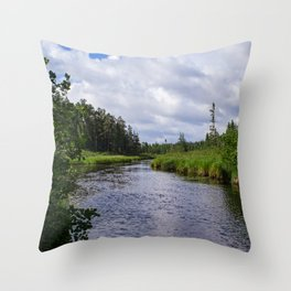 Boundary Waters Entry Point Throw Pillow