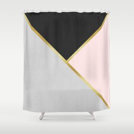 Gold Modern Art IX Shower Curtain