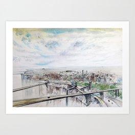 City of the future R Art Print