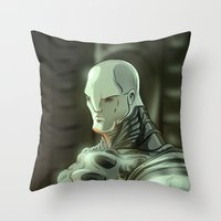 prometheus Throw Pillows featuring Prometheus by Kaan Demircelik