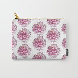 Watercolor dahlias pattern on white Carry-All Pouch