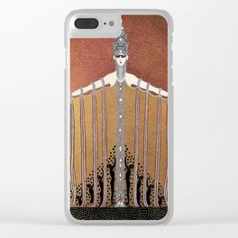 """Design in Art-Deco Style """"Adoration"""" by Erté Clear iPhone Case"""