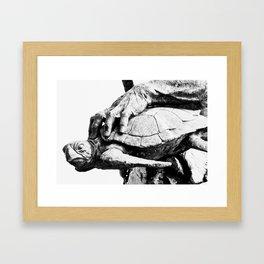 Hand Turtle Framed Art Print