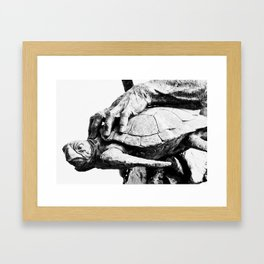 Hand Turtle Framed Art Print
