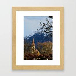 Mountain Church Interlaken Switzerland Framed Art Print