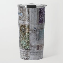 Colorful Metallic Patchwork Travel Mug